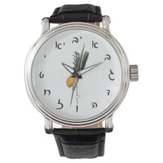 Arba Minim - Hebrew Script Numerals Wristwatches