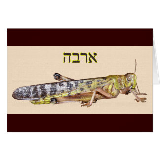 "Arbeh In Hebrew Meaning ""Locust"" Card"