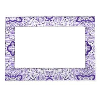 Arbella Purple Watercolour Pattern Magnetic Frame