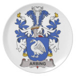 Arbing Family Crest Party Plates