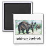 arbitrary aardvark 2 inch square magnet