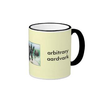 arbitrary aardvark ringer mug