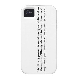 Arbitrary Power Quote by George Washington iPhone 4/4S Covers