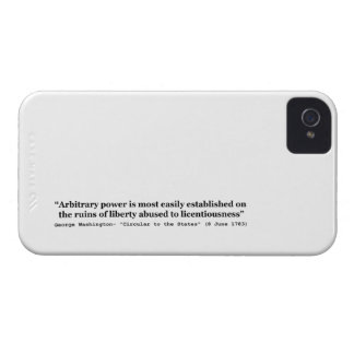 Arbitrary Power Quote by George Washington iPhone 4 Case-Mate Cases