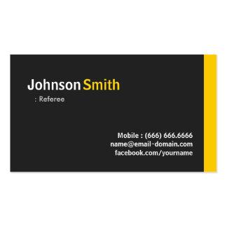 Árbitro - ámbar minimalista moderno tarjetas de visita