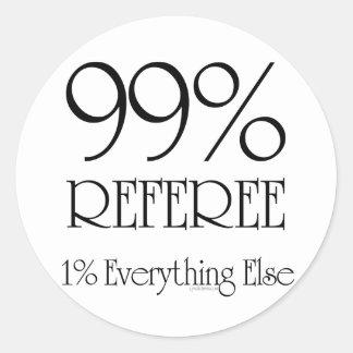 Árbitro del 99% etiqueta redonda