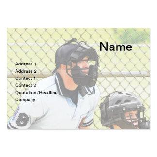 árbitro del béisbol tarjetas de visita grandes