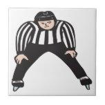 Árbitro del hockey azulejo cuadrado pequeño