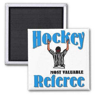 Árbitro del hockey imán cuadrado