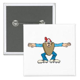 árbitro del ump del dibujo animado que llama la CA Pin Cuadrado