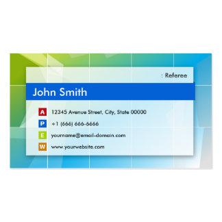 Árbitro - multiusos moderno tarjetas de visita
