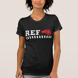 Árbitro - referencia - camiseta con el silbido playeras