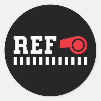 Árbitro - referencia - diseño con el silbido rojo etiquetas