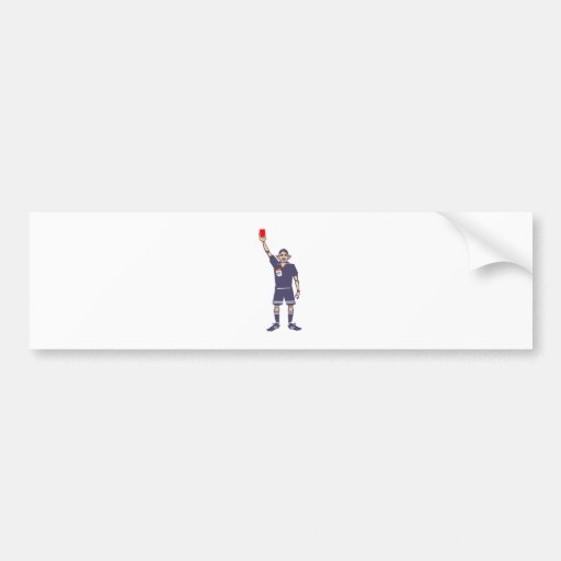 Árbitro tarjeta roja referee hablas card pegatina de parachoque