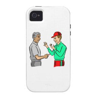 Árbitro y encargado del béisbol vibe iPhone 4 carcasa