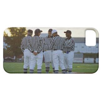 Árbitros del fútbol americano que hablan en campo iPhone 5 fundas