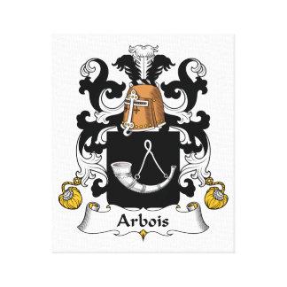 Arbois Family Crest Gallery Wrap Canvas