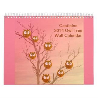 Árbol 2014 del búho calendario