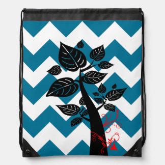 Árbol 5 con la flecha en galón azul mochila
