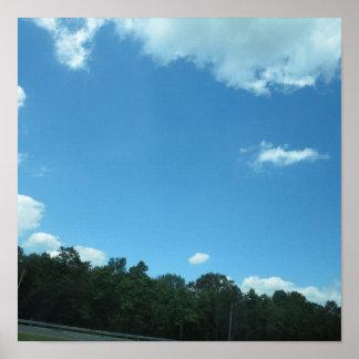 Árbol 99 del cielo del verde de la naturaleza de N Posters