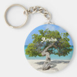 Árbol a solas de Divi Divi en Aruba Llavero Redondo Tipo Pin