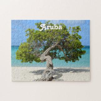 Árbol a solas de Divi Divi en Aruba Rompecabezas Con Fotos