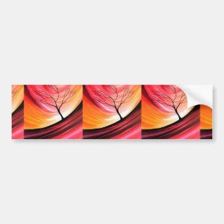 Árbol abstracto - arte moderno pegatina para auto
