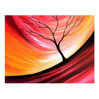 Árbol abstracto - arte moderno postales