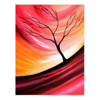 Árbol abstracto - arte moderno tarjeta postal
