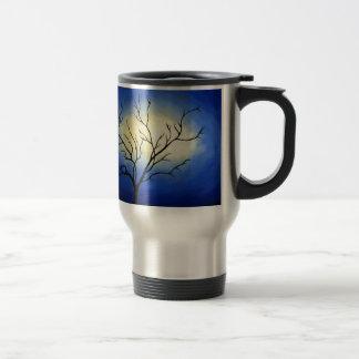 Árbol abstracto - arte moderno taza de viaje