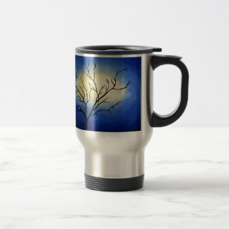 Árbol abstracto - arte moderno taza de viaje de acero inoxidable