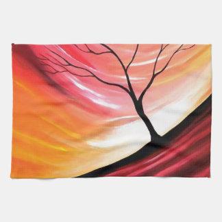 Árbol abstracto - arte moderno toallas de mano