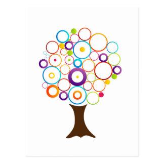 Árbol abstracto con los círculos postal