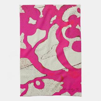 Árbol abstracto de las rosas fuertes o toalla de t