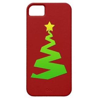 Árbol abstracto del navidad iPhone 5 cárcasas