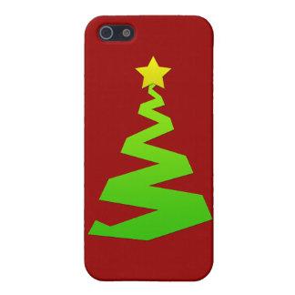 Árbol abstracto del navidad iPhone 5 funda