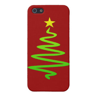 Árbol abstracto del navidad iPhone 5 carcasa