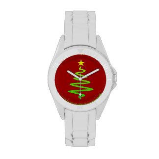 Árbol abstracto del navidad reloj