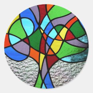 Árbol abstracto del pegatina de la vida