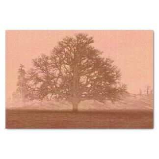 Árbol abstracto en campo papel de seda pequeño