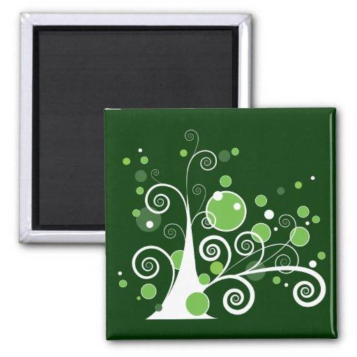 Árbol abstracto imán cuadrado