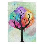 Árbol abstracto impresionante de la pintura de ace felicitación