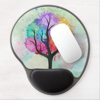 Árbol abstracto impresionante de la pintura de alfombrilla gel