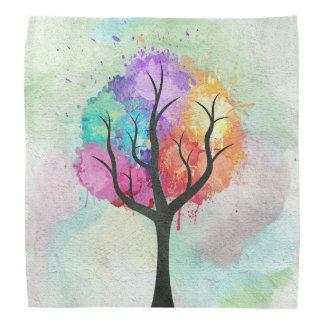 Árbol abstracto impresionante de la pintura de bandanas