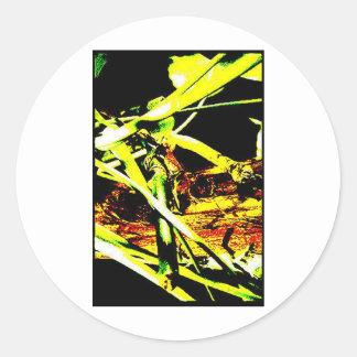 Árbol abstracto etiqueta redonda