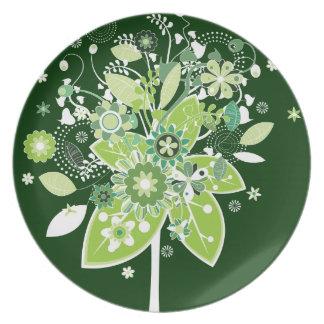 Árbol abstracto platos para fiestas