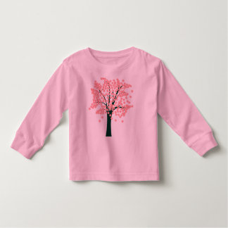 Árbol abstracto rosado playera de bebé