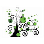 Árbol abstracto tarjetas postales