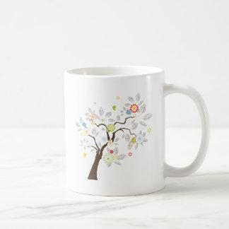 Árbol abstracto taza de café