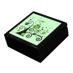 Árbol abstracto verde caja de joyas